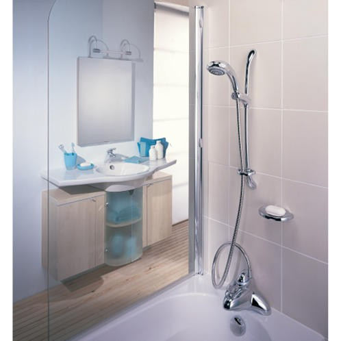 Mira Excel Bath Shower Mixer With Adjustable Showerhead White 1.1598.001